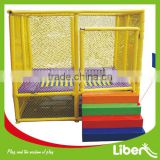 2014 Best Selling Kids Professional Outdoor Trampoline Bed With Safety Enclosure LE.BC.013