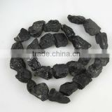 Black tourmaline rough nugget for jewelry making
