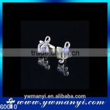 Wholesale high qaulity music blue rhinestone note cufflink G0010                                                                         Quality Choice