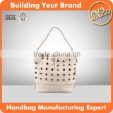 4583-2015 HIGH QUALITY FASHION LADY HANDBAG, BEIGE COLOR HANDBAGS, GENUINE LEATHER HANDBAGS, bolsos FACTORY PRICE
