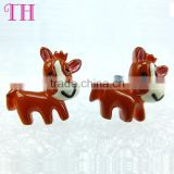 cheap brand kids show resin environmental lovely horse traditional korea gypsy earring wholesale