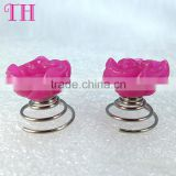 NEW baby hair accessories low price custom flower shape peach metal plastic hair pin for girl