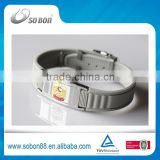2015 fashion custom energy balance bracelet, bio magnet titanium germanium bracelet made in China