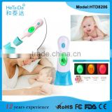 Light Weight LED Backlight Multi Use Thermometer,Ambient Clock Ear Forehead IR Thermometer,4 in 1 Infrared Thermometer for Baby