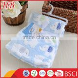 made in china jacquard elephants coral fleece baby blanket