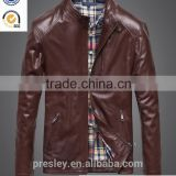 2016 new style most fashion mens leather jacket/ brand name fashion leather jackets