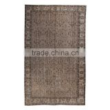 Handmade Turkish Carpet - Beige Over-dyed Rug (8,7 x 5,5 feet)