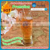 Promotion 2014 Brazil World Cup beer glass necessary barware customed own LOGO & decal beer glasses wholesale