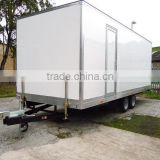 Low bed trailer dimensions,trailer toilet, Portable Toilet, Movable trailer Toilet