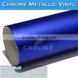 1.52x20M Exterior Accessories Air Free Self Adheisve Matt Chrome Vinyl pvc sticker material