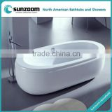 cUPC certified oval hot tub spa, wholesale plastic tub, bath tub with prices