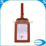 Promotion custom leather luggage tags wedding favor                                                                         Quality Choice