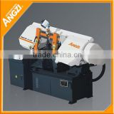 Advance hydraulic tension band saw for cutting beam