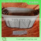 Factory wholesale oval iron metal chicken wire storage basket with handle