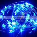Twinkle Blue Star LED String light 3AA Battery Operated for Christmas