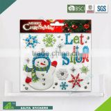BSCI factory audit Christmas 3D Eco-friendly decorative removable baby room wall stickers