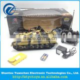 NEW Simulation wireless remote control military battle tanks radio control toys 8ch plastic RC army tank with light and sound