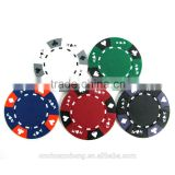 Hot sales unique 14g clay AK suited 3-tone color casino customized logo printing poker game chips for sale