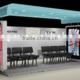 Metal Bus Stop Shelter in Good Design with Acrylic Roof and Light Box for Outdoor Advertising