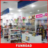 2015 cute plywood baking paint children kids toy display showcase with modern design