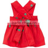 2016 New Model Baby Girl Dress Red Trees Charlotte Jumper Sleeveless Infant Clothes Cotton Children Clothhing GD50112-5