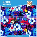 Wholesale 2016 Fashionable Floral Digital Printed Beach Shawl/Scarf Warp Knitted Mesh Fabric in 90% Polyester 10% Spandex