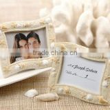 Seaside Sand and Shell Beach Themed Wedding Photo Frame