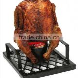 The Beer Bird Cooking Rack Chicken Roaster BBQ Oven Grill