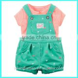 New arrival 2pcs kids boutique fashion toddler kids tee and pants baby clothes set girl                                                                         Quality Choice