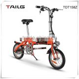250W mini folding electric bicycle Hidden Lithium battery ebike Tailg aluminum electric bike with pedal assistant TDN136z