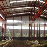 light steel truss frame warehouse pre engineered steel structure garage steel fabrication plant