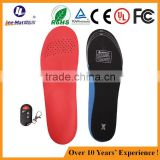 Long heating time thermal insole Rechargeable battery heated insole Remote Control Electric Heated Shoes Insole