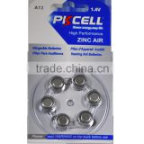 A13 1.4v air zinc hearing aid battery button cell Factory Price