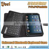 Universal 7 inch Bluetooth Keyboard with leather case fit for windows/IOS/Android tablet pc