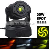 Stage moving head lights 75w 8 color 7 rotation gobo spot moving head 3 facet prism