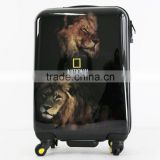 High quality printed designing lifelike Animal series ABS+PC trolley quality hard case luggage