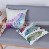 Ink Feather Luxury Damask Velvet Sofa Home Decor Throw Pillow Cases Cushion Covers