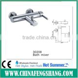 surface mounted bath and shower faucet