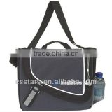 Gray Polyester Messenger Bag for Students