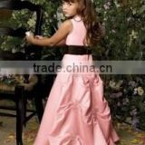 pink lovely flower girl dress or formal flower girl dress or baby flower girl dress patterns or plus size flower girl dress