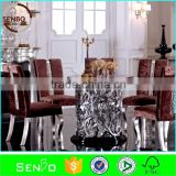home furniture, marble dining table, 8 seater marble dining table, round marble top dining table set