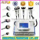 Au-46B Best multipolar RF head 40K cavitation cellulite fat reduction & vacuum therapy cupping machine