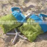 promotional Beach treasures storage bag for babys, small mesh beach bag, net storage bags