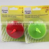 Hand shaped spiral circular silicone sink stopper