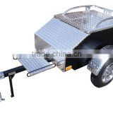 "48"" X 28"" X 19"" Aluminum White Plate Enclosed Motorbike Motorcycle / Car Trailer For Sale"