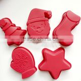 Silicone chiffon foot shaped jelly cake mold christmas soap molds pudding chocolate cup