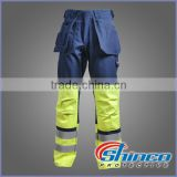 Shinco industrial cotton fr work trousers with knee pads