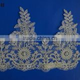 Dongguan sari border trim beaded trimming lace wholesale online india