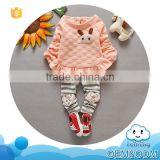 Girls clothes set guangzhou product fashion dot baby clothes gift set soft cotton family set clothes