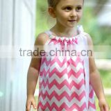 girls dresses infant sleeveless dress toddler chevron cotton skirt knee length halter kids pillowcase cotton clothing on sale